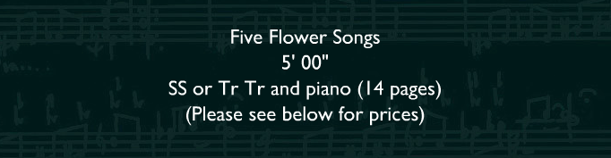 Five Flower Songs